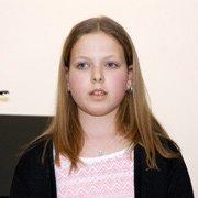 Alina, 12 Jahre als Solistin
